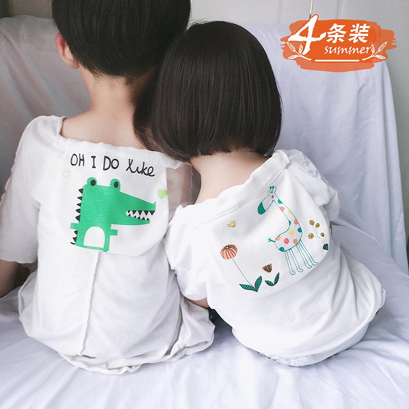 吸汗巾儿童纯棉0-3-6岁薄夏新生婴儿隔汗巾宝宝垫背幼儿园中大童