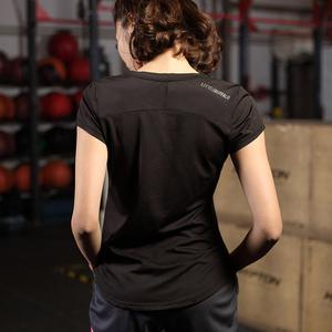 速干衣女T恤宽松罩衫镂空反光运动短袖健身衣瑜伽服跑步上衣