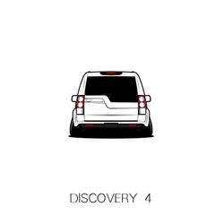 适用于路虎发现4 改装汽车装饰贴个性剪影加车牌车贴改装车尾贴