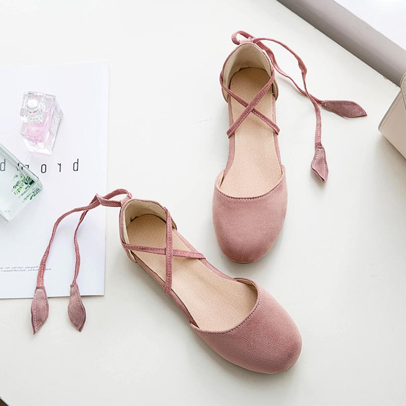 日系森女小清新韩版脚环交叉绑带包头学生平底软妹晚晚凉鞋仙女鞋