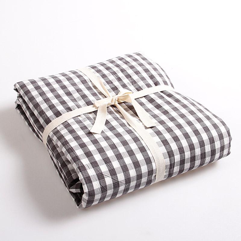 Стеганое постельное белье чистый хлопок промывание хлопок Стеганое постельное белье верх статьи полностью хлопок один Одеяло клетчатый Чистый цвет