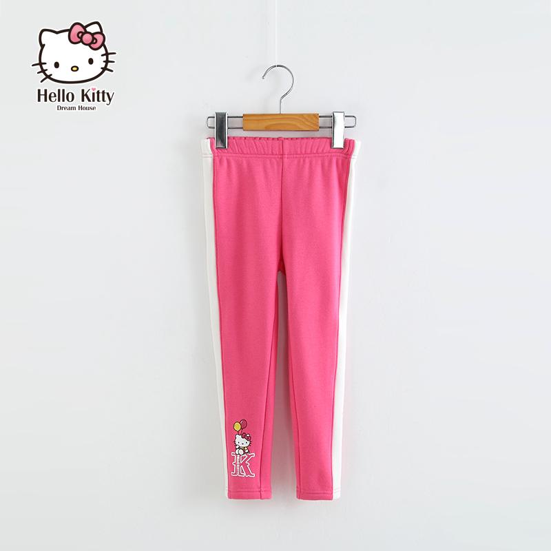 Hellokitty 品牌女 2016秋裝 加厚兒童褲子不倒絨打底長褲