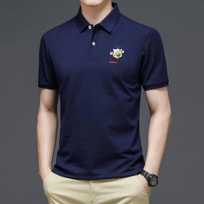 2021 summer Polo embroidered logo short sleeve t-shirt mens Lapel mens Polo Shirt Youth half sleeve cotton T-shirt