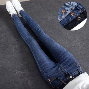 高腰牛仔裤女长裤紧身弹力显瘦显高黑色小脚裤2020新款修身铅笔裤