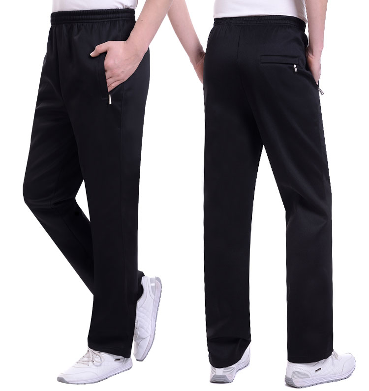 Spring and autumn mid aged mens pants middle aged mens sports pants casual pants South Korean silk loose large thin