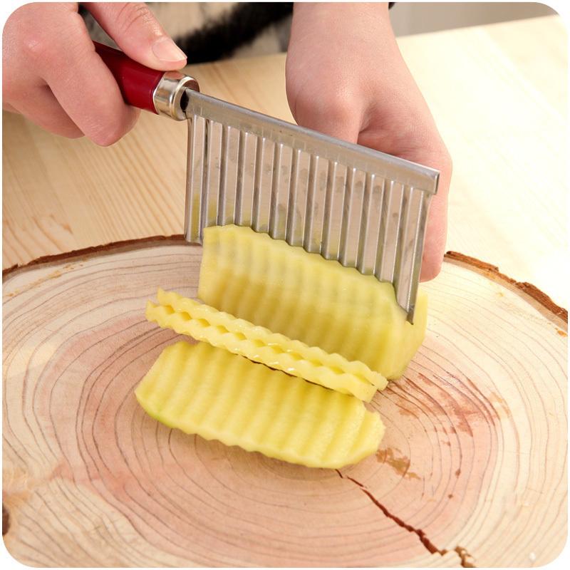 切菜刀创意多功能切菜器波浪形土豆切花刀不锈钢切片可悬挂切条器