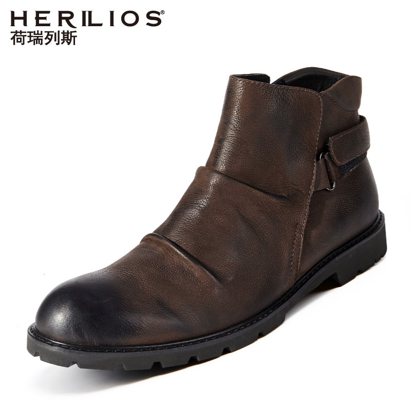 Martin Boots, Boots, Men's Wind Upper Shoes, Inside Upper Shoes, Warm Cotton Shoes, High Uppers, Leather Shoes, Fur Leather Men's Shoes