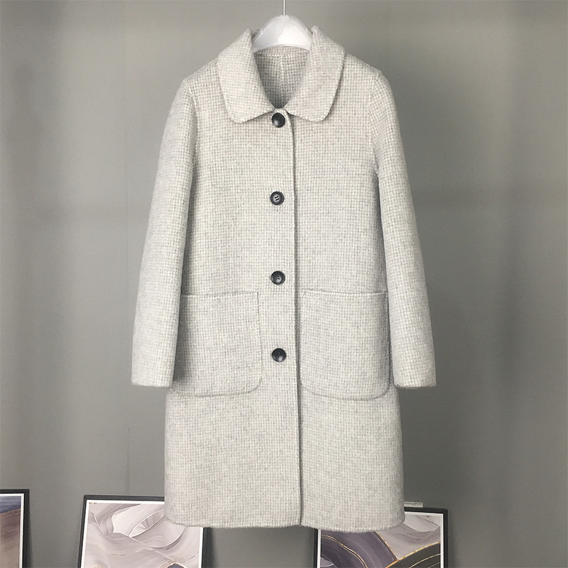 Double sided cashmere coat womens medium and long special price clearance small man slim woolen coat large womens wear