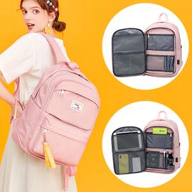 韩版小学生书包女生3-6-4四五年级双肩包大容量初中学生校园背包