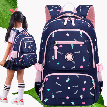 日韩版儿童书包小学生女生四五三到六年级轻便双肩包轻便防水减负