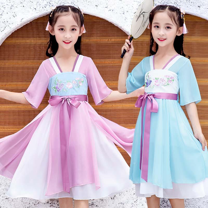 满59.00元可用1元优惠券6夏装儿童仙女7 8中国风5连衣裙