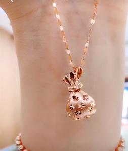 网红时尚项链女简约气质韩版小众设计感潮人ins百搭钛钢锁骨链