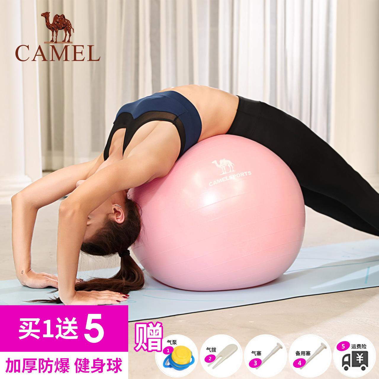 骆驼瑜伽球正品套装加厚防爆初学者健身球儿童球弹力运动瑜珈球女,可领取5元天猫优惠券