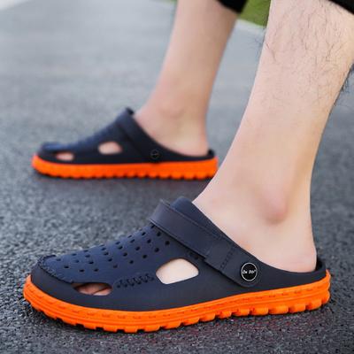 越南天然橡胶凉鞋男温突商务洞洞鞋女休闲柔软海南旅游乳胶沙滩鞋