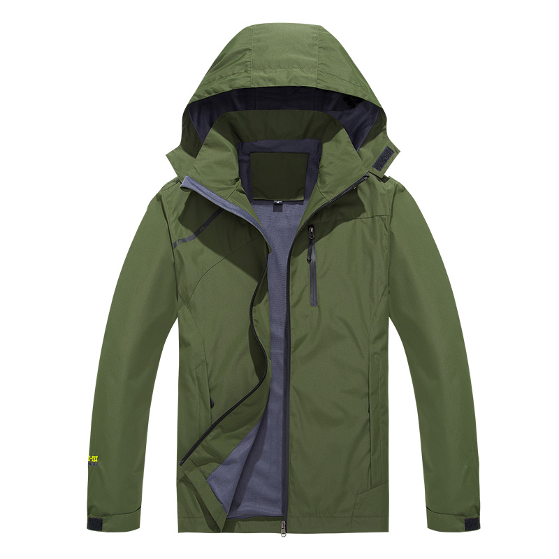 Mens and womens autumn thin waterproof hooded detachable jacket outdoor mountaineering hiking jacket jacket jacket jacket