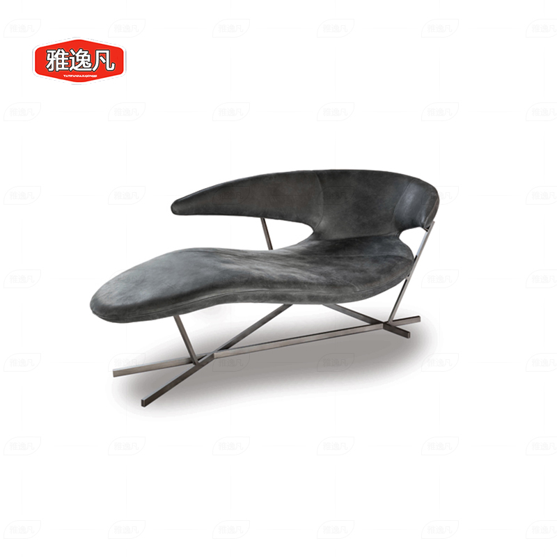 Yayifan custom furniture Nordic luxury special shaped glass fiber reinforced plastic reclining chair bat wing shaped sofa
