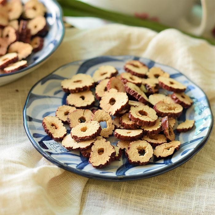 十年志精选大片若羌红枣片 甜脆可口 直接当零食吃或泡茶 150克