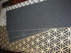 【木雪】黑色滑板砂纸专业长板砂纸 多种尺寸高品质气孔砂纸