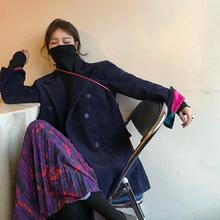 iuiu結晶レトロコーデュロイ緩いスーツのジャケット春と秋2019新しい女性は色が赤いスーツをメッシュヒット
