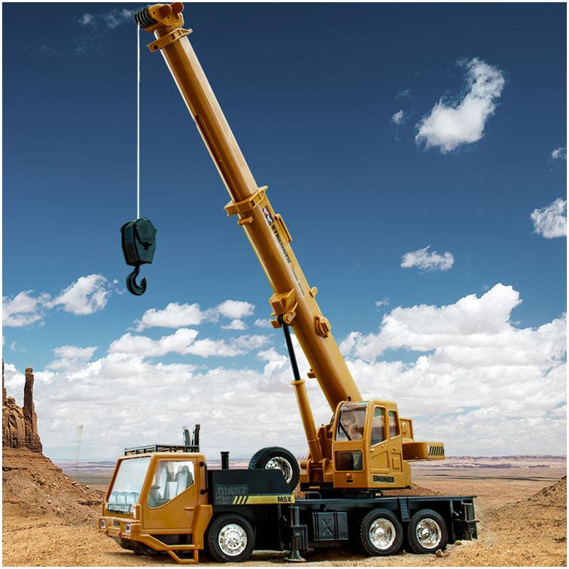 儿童玩具工程车大吊车起重机塔吊模型超大号挖掘机充电遥控汽车男
