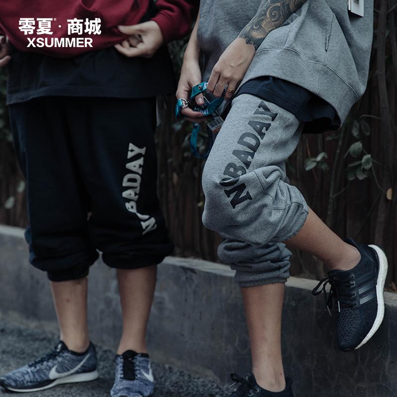 【 нулю лето 】NOBADAY / вязание брюки брюки случайный брюки брюки серая осень зима мужской и женщины нулю лето