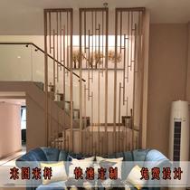 不銹鋼屏風隔斷金屬玫瑰金售樓部鏤空雕花屏風中式客廳花格定制