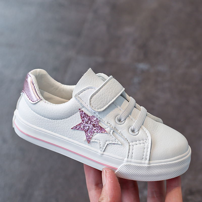 儿童板鞋百搭白色2018春秋新款女童鞋韩版休闲学生小白鞋男童透气