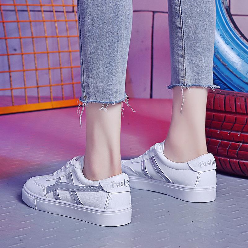 小白鞋女平底百搭皮面网上专卖店