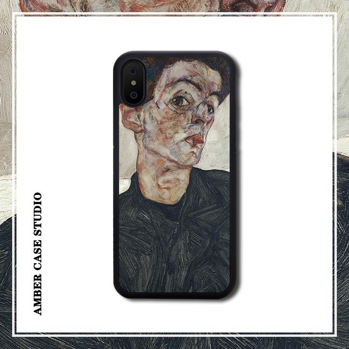 席勒自画像油画美术适配iPhone XR苹果XS MAX/11/7/8plus手机软壳图片