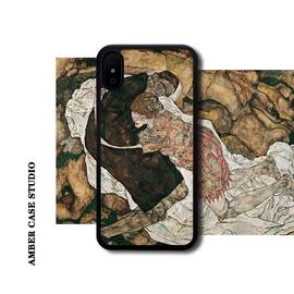 席勒死神与少女适配苹果XS MAX美术手机壳iPhone XR/8plus/11华为图片