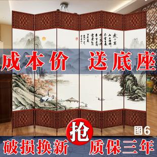 中式 屏风隔断简易折叠移动客厅玄关墙折屏简约现代简易推拉酒店