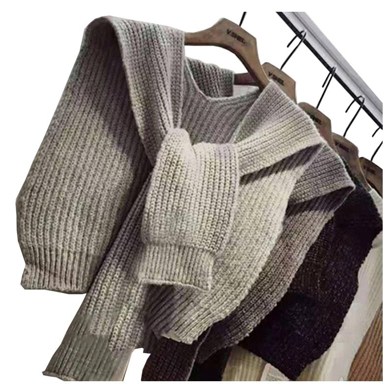 Japanese Korean versatile hooded shawl knot scarf bandage small shawl sleeve with shoulder collar