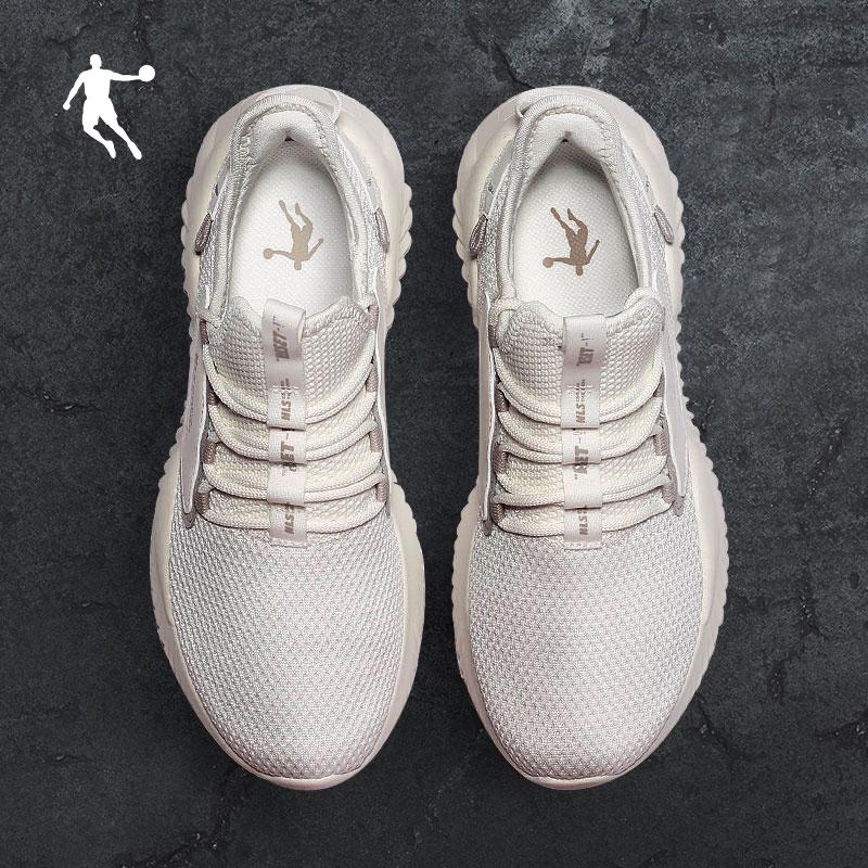 乔丹运动鞋男鞋2020春季网布透气轻便休闲鞋一脚蹬小白鞋跑步鞋男