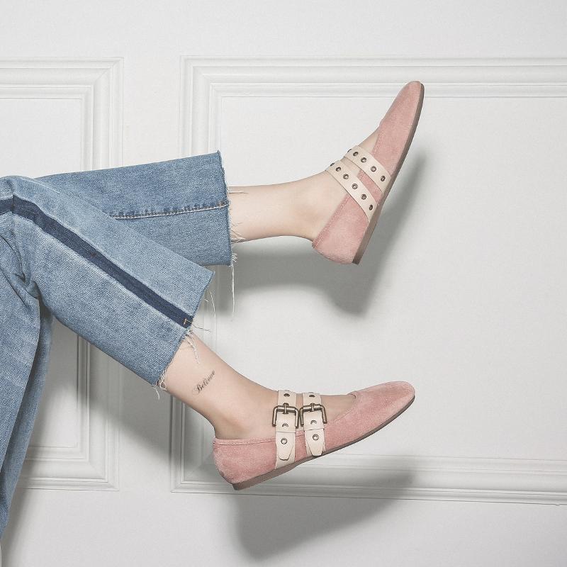 法式玛丽珍鞋学生少女2020春季新款软皮平底浅口淑女百搭单鞋女