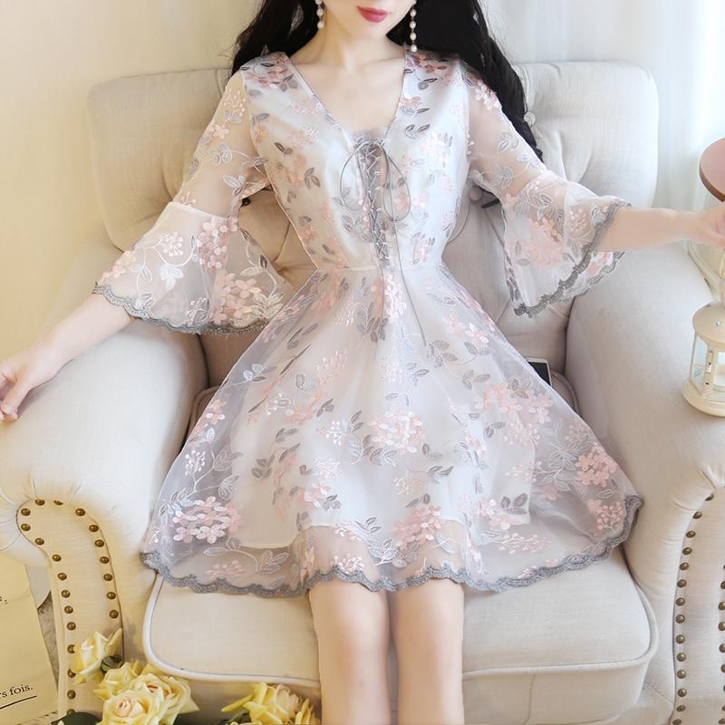 矮个子搭配超仙女裙子150cm连衣裙限10000张券