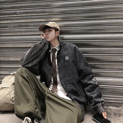 20/春季 立领刺绣夹克水洗复古日系潮牌男外套 港风9 JK750 P100