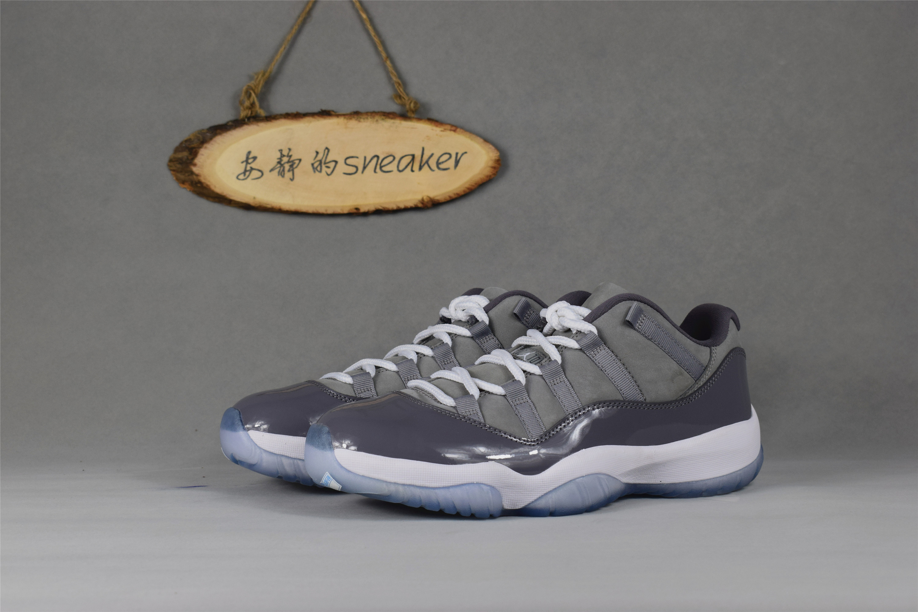【安静】AIR JORDAN 11 low  AJ 11 low 酷灰 低帮 528895-003