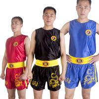 Цзю Дуаньлун комплект Санда Костюм Бокс Костюм Боксерские штаны Боевые искусства детские Одежда Обувь Muay Thai мужские и женские шорты