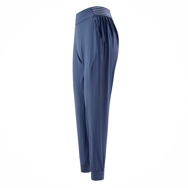 运动裤女宽松束脚收口跑步健身裤薄速干高腰弹力瑜伽长裤bf风显瘦