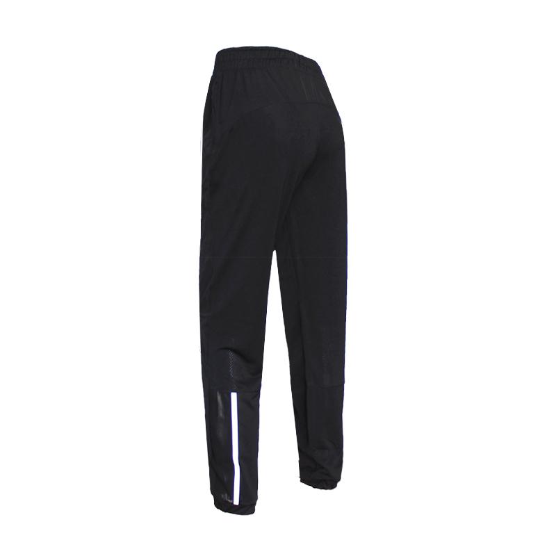 夜跑反光瑜伽裤健身长裤女跑步速干裤薄网孔运动九分大码宽松收口