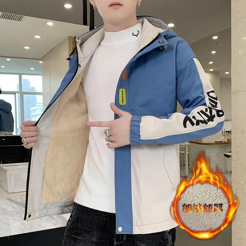 冬季外套男中长款加绒夹克派克服夹克加厚棉衣JK666-P70-QT5018,男装夹克,5018