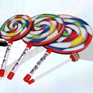 棒棒糖手敲鼓奥尔夫打击乐器 促销 幼儿园玩具儿童6寸8寸10寸 包邮