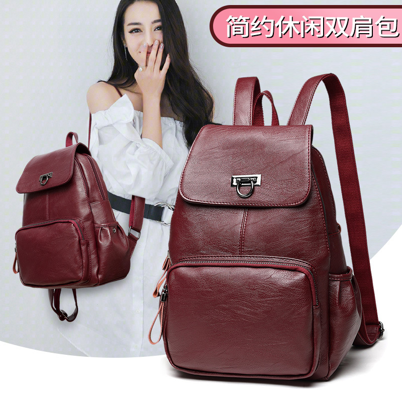 2020 new double shoulder bag womens leisure bag fashion portable women travel Student Backpack