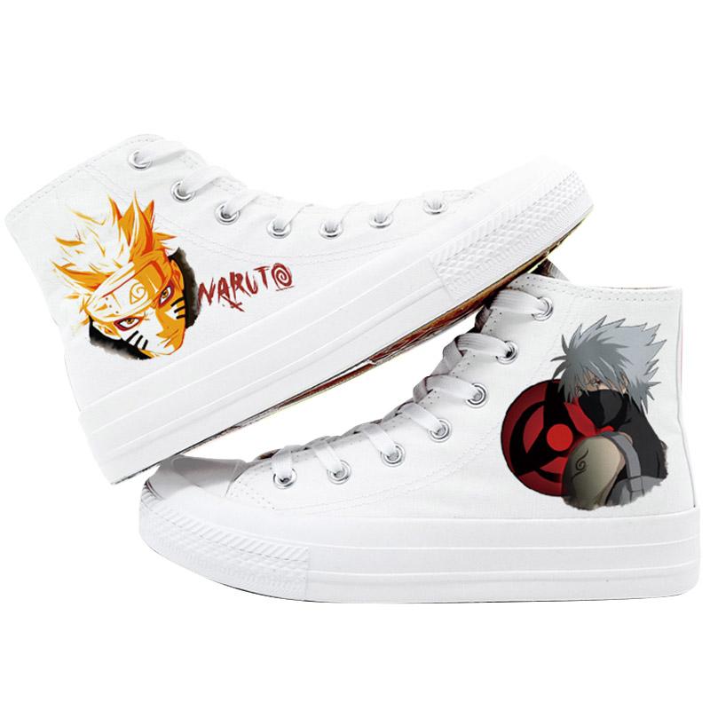 火影忍者鞋子写轮眼cos男女帆布鞋漩涡鸣人卡卡西我爱罗佐助周边