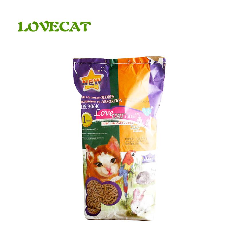 9省包郵 LoveCat清潔用品抗菌除臭天然鬆木貓砂 貓沙20磅約9.06kg