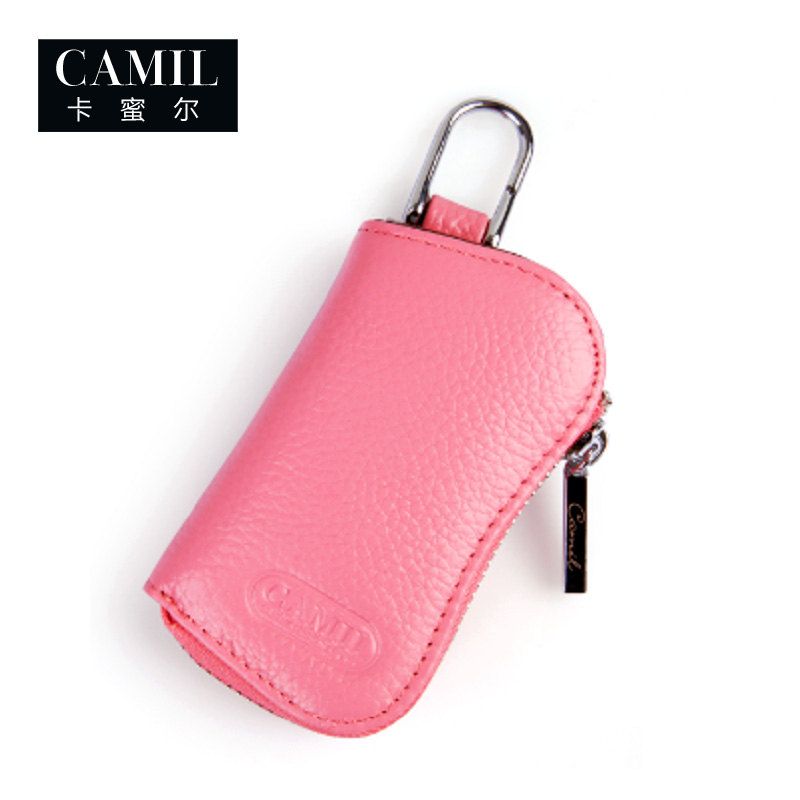 Camil genuine Korean cute head leather male and female car key bag leather wallet special price package