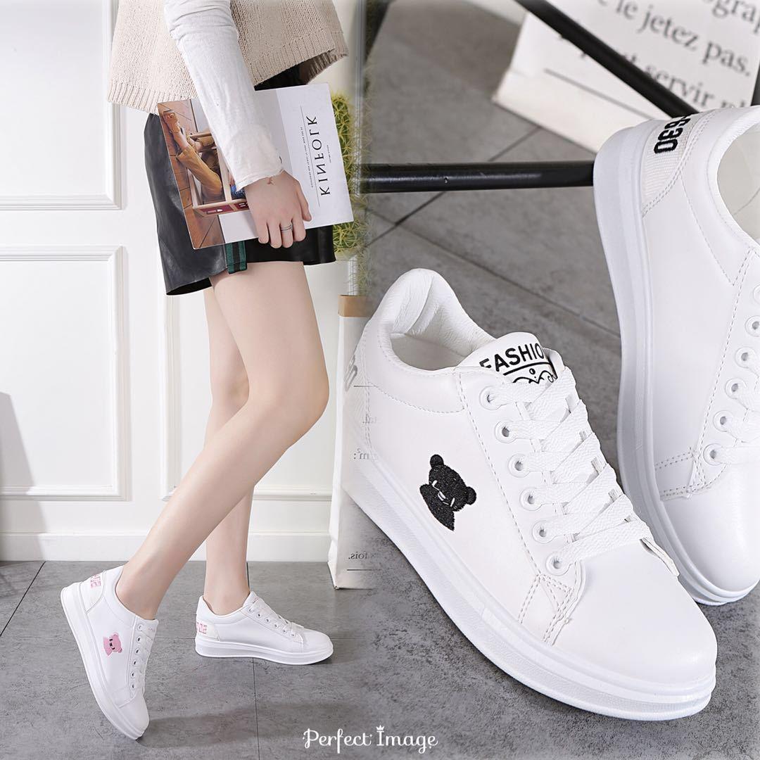 (用150元券)秋装新款女士带轻便可爱小白鞋
