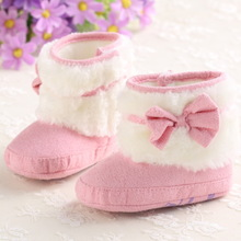 Warm fur boots one-year-old baby cotton shoes 6 months baby shoes, baby shoe the 5678 winter B179 8 months