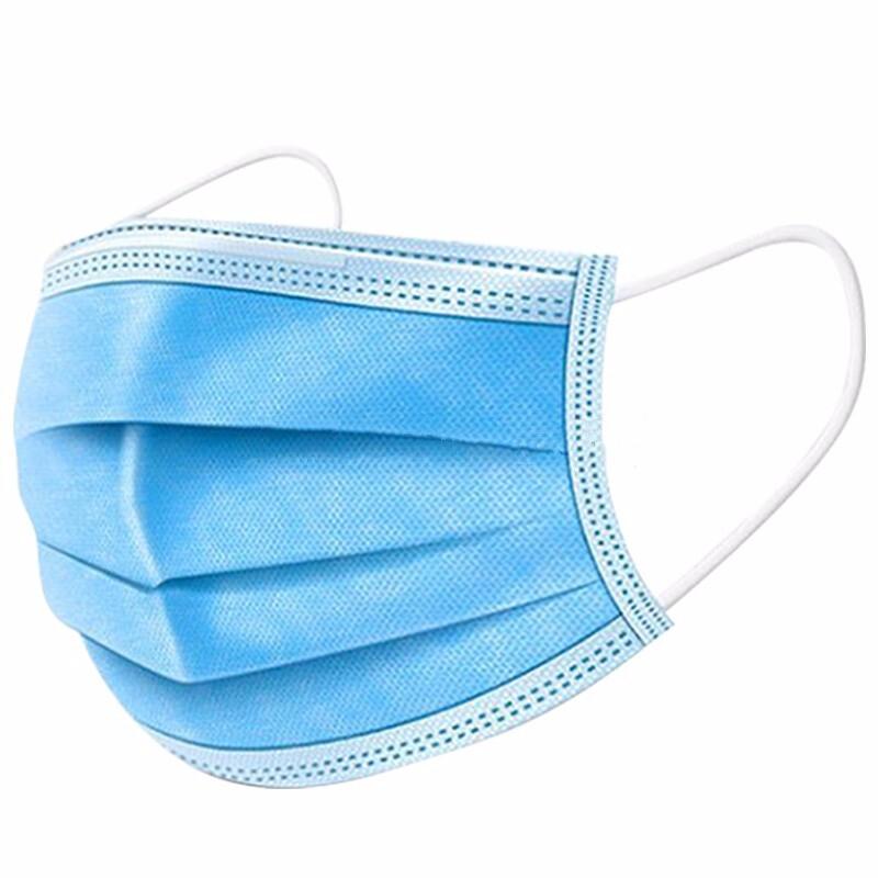 现货一次性口罩三层防飞沫成人透气防尘含熔喷层防护口面罩活性炭