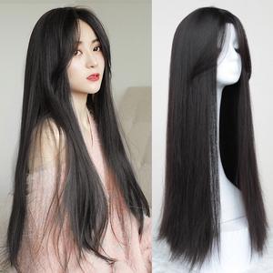 假发女长发直发 气质中分自然整顶全头套式 隐形无痕逼真中长发套